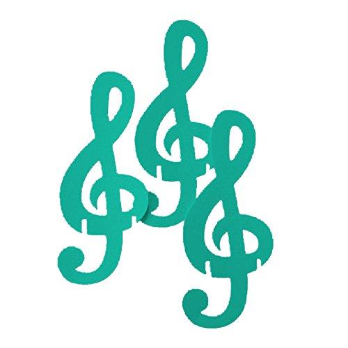 GS Cartotecnica 50 segnaposto in cartoncino a Forma di Chiave di Violino - Tiffany -