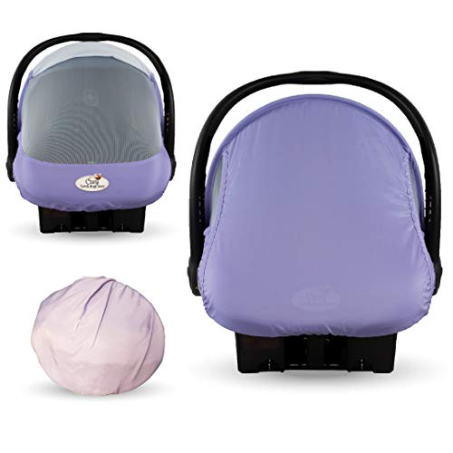Summer Cozy Cover Sun & Bug Cover (Rhapsody Purple) - The Industry Leading Infant Carrier Cover Trusted by Over 2 Million Moms Worldwide for Protecting Your Baby from Mosquitos, Insects & The Sun