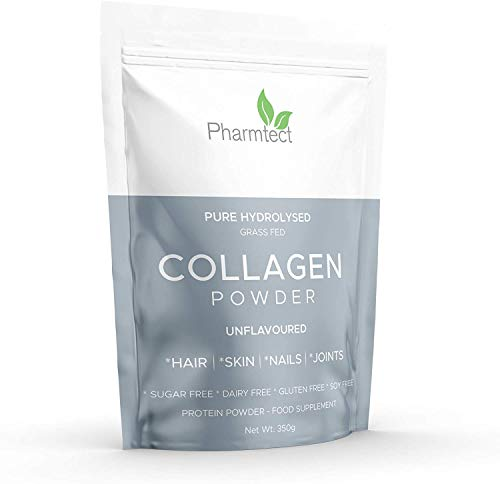 Pure Hydrolysed Collagen Powder 100% Grass Fed - Supplement for Hair, Skin, Nails, Gut, Joints, Bones & Wrinkles - Odourless & Tasteless - Hormones Free - Keto & Paleo Diet Made In The UK By Pharmtect