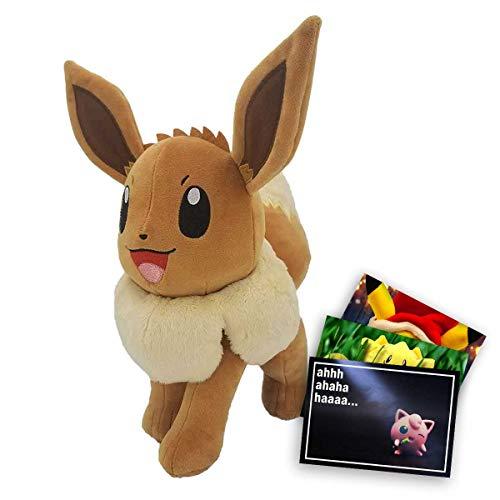 Lively Moments Pokemon Plüsch Evoli ca. 30cm + Exklusive GRATIS Grußkarte