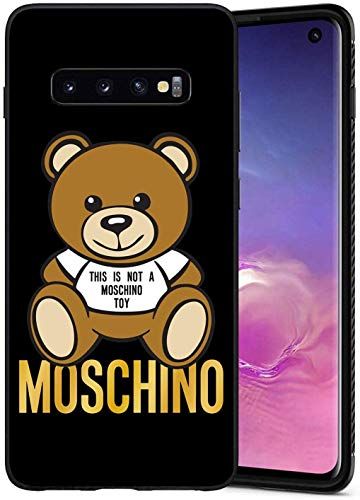 EpbyM This Is Not A Moschimo Toy Moschimo Logo Samsung Galaxy S10 Plus Custodia, Nero Custodia Cover Slim Anti Scivolo Custodia Protezione Posteriore Cover Antiurto per Samsung Galaxy S10+, 6.4""