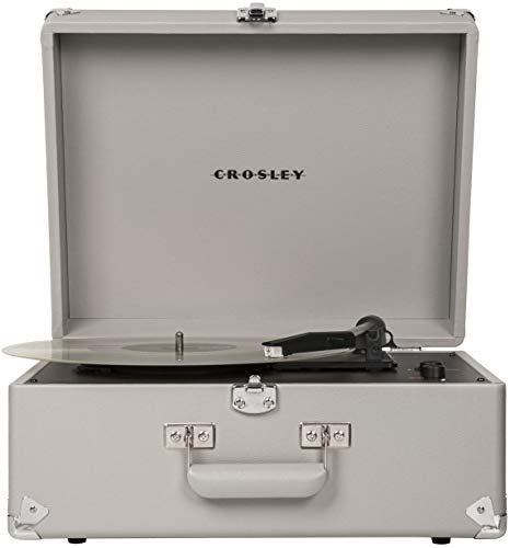 Crosley CR6253A-GY Anthology Vintage 3-Speed Bluetooth Suitcase Turntable, Gray