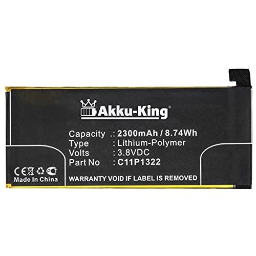 Akku-King Akku kompatibel mit Asus C11P1322 - Li-Polymer 2300mAh - für ASUS Padfone S, Padfone S Plus, PadFone X, Padfone PF500KL, T00D ZenFone S, ZenFone X (Phone)
