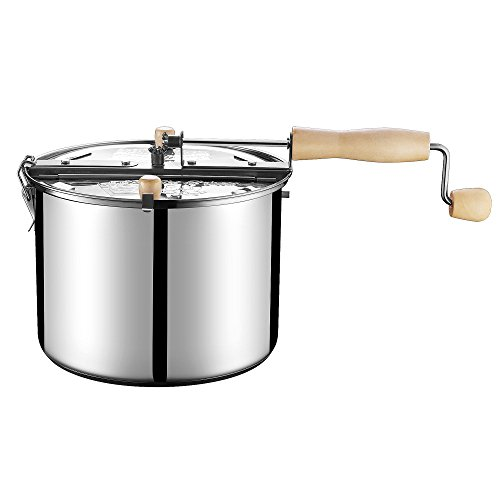 Product Image 2: Great Northern Popcorn Original Stainless Steel Stove Top 6-1/2-Quart Popcorn Popper