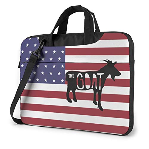 14' Portable Laptop Bag Sleeve -Us Flag And Goat - Laptop Sleeve Briefcase For Chromebook Notebook Tablet
