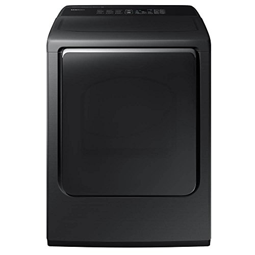 SAMSUNG DVE52M8650V / DVE52M8650V/A3 / DVE52M8650V/A3 7.4 Cu. Ft. Black Stainless Electric Dryer with Steam