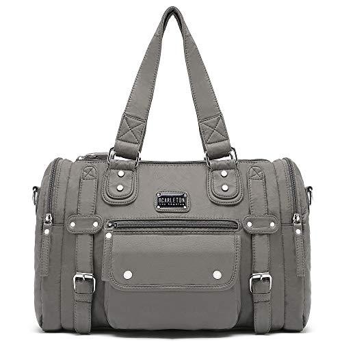 Scarleton Satchel Handbag for Women, Purses for Women, Shoulder Bags for Women, H148524 - Grey