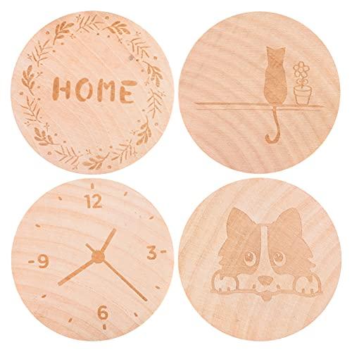 4 imanes de nevera para oficina en casa, imanes de nevera de madera, abrebotellas