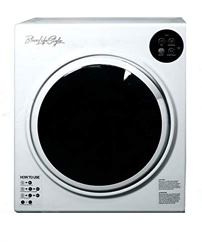 BlueLifeStyle 110V Automatic Compact Apartment Laundry Clothes Dryer White - Stainless Steel Drum, 3.0 cb.ft.