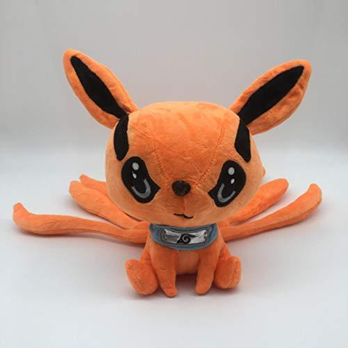 FDFSDAMAI Kuscheltiere Naruto Uzumaki Kyuubi Kurama Neun Geschichten Fox Demon Plüschtier Puppe Flauschige Kuscheltiere 25Cm