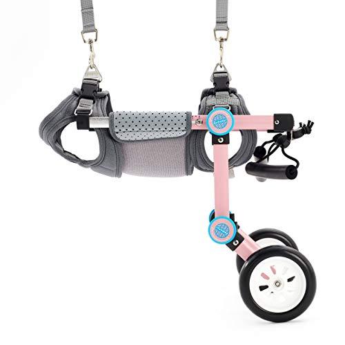 AKIMOTO 犬用車椅子 リハビリ用サポート2輪歩行器 犬用カート 軽量 補助輪 小型・中型犬用 コーギー 柴犬など 老犬介護 ペットウォーカー