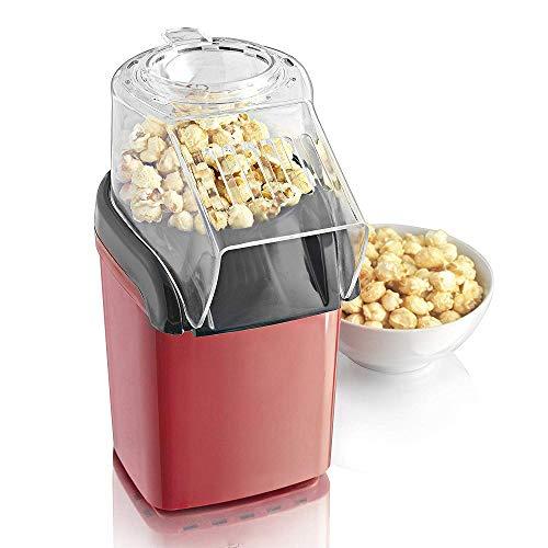 Retro Popcorn Maker Maschine, NBWS Automatische Popcornmaschine, Heissluft Ohne Fett Fettfrei Ölfrei Profi-Retro-Popcorn-Maschine