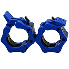 100% New This barbell clamp fits for 2 inches Olympic standard size.Perfect for crossfit workouts,Olympic lifts,overhead press,deadlifts,bench press,or any other workout using 2 inches Olympic Barbell. Material:reinforced plastic ,ABS,Package Include...