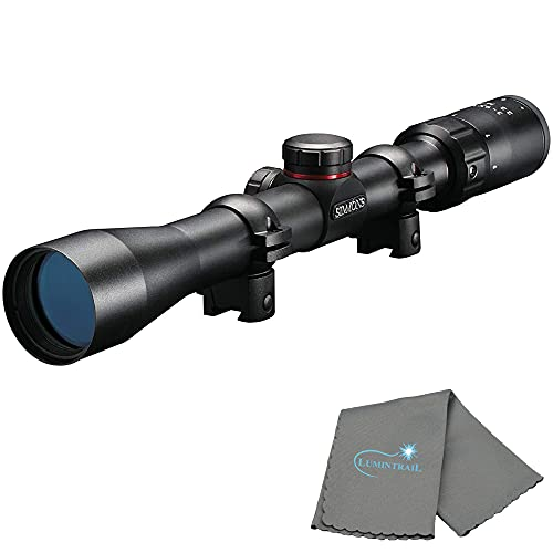 Simmons 3-9x32mm .22 MAG Rimfire Rifle Scope, Matte Black, with a Lumintrail Lens Cleaning Cloth