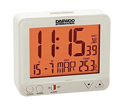 Daewoo DBF121 Reloj Despertador DCD-200, ELECTRÓNICOS, Color Blanco