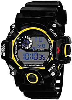 Flaunt Market Yellow Dial Digital Sports Watch for Men's and Boy's 24BM