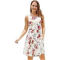 Yoaresweet Summer Causal Sleeveless Dress with Pocket (various sizes/colors)