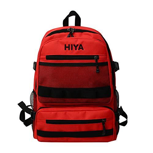 Coolives Unisex Rucksack Alte Schule Rucksäcke Daypack für Jugendliche Teenager-Junge Teenager-Mädchen Rot EINWEG