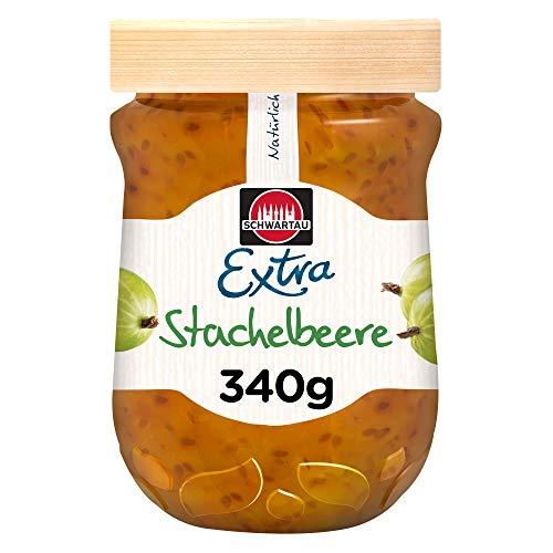 Schwartau Extra Stachelbeere, Konfitüre, 8er Pack (8 x 340 g)