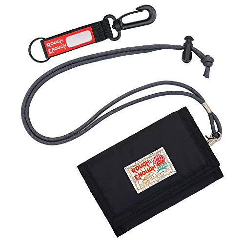 Product Image of the Rough Enough Kids Lanyard Wallets for Teen Boys Men Trifold Wallet with Zipper...