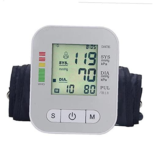 Automatische bloeddrukmeter Tester Device Groot scherm digitale bovenarm Bp Machine Silver