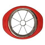 Trancheuse de pomme de grande taille | Coupe-pommes en acier inoxydable avec lame dentelée 8 aiguës | Rouge ou vert Rouge