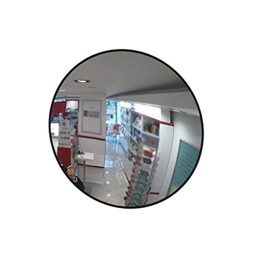 ZXL Espejo antirrobo para Monitor de Tienda minorista de 60 cm, Espejo de Seguridad Convexo inastillable Negro Seguridad de Espejo de tráfico de la Tienda de conveniencia Mall (tamaño: 60 cm)