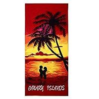 大型夏用吸収剤マイクロファイバー漫画ビーチ馬印刷バスビーチタオル(100x180cm、ビーチランニングホースA)