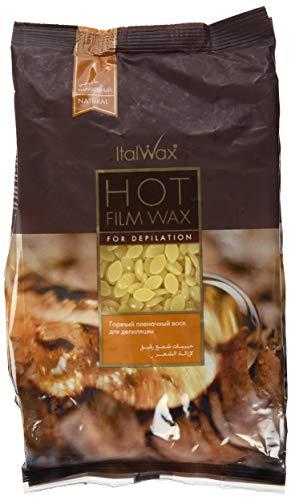 Italwax 1 kg, Naturell WACHSPERLEN FÜR PROFESSIONELLE ENTHAARUNG. Filmwachs. Niedrig Temperatur und sehr Flexibel. Für Intim, Beine, Arme und Gesicht.