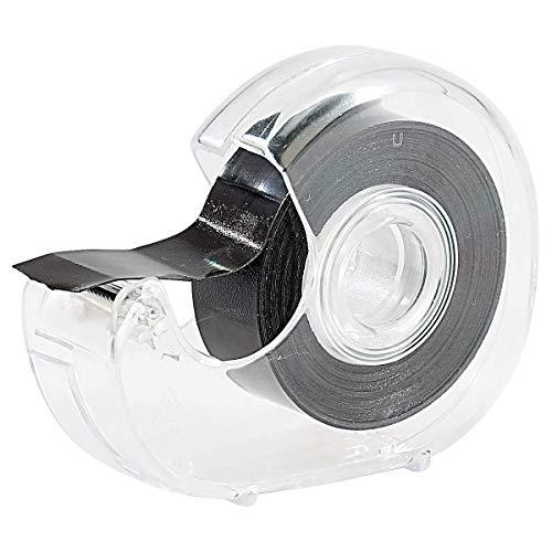 1 Stück Schwarz Magnetband mit Abroller Magnetstreifen für Haushalt