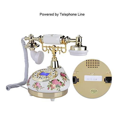 Meiyya Teléfono Retro, función de Pausa de teléfono Retro Vintage, Interruptor P/T, función de rellamada, línea Fija FSK/DTMF para Oficina, Hotel en casa