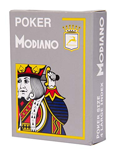 Poker stuff India Texas Poker Hold'em Plastic Playing Cards, Large Index for Fun Party Game Casino (Gray, Wide Size Cards)