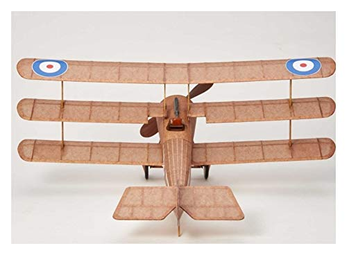 Sopwith Tri-Plane complete vintage model rubber-powered balsa wood aircraft kit that really flies!