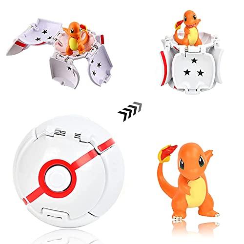 Poke Ball, Pokemon Ball, Figurina Poke Ball, Pokeball Pokemon, Throw Pokemon PokéBall, Kid Toys Plastic Anime Pokeball Figure per Bambini e Adulti Festa Giocattolo Regalo (Drago)