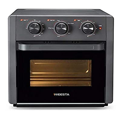 WEESTA 21QT Air Fryer Toaster Oven,5-IN-1 Countertop Convection Oven with Air Fry Air Roast Toast Broil Bake Function for Fried Chicken, Steak, Fries, Tater Tots, Chips, Shrimps, Bacon, Pizza, etc