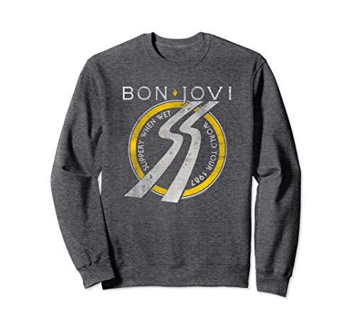 Bon Jovi Slippery When Wet World Tour Unisex Gray Sweatshirt