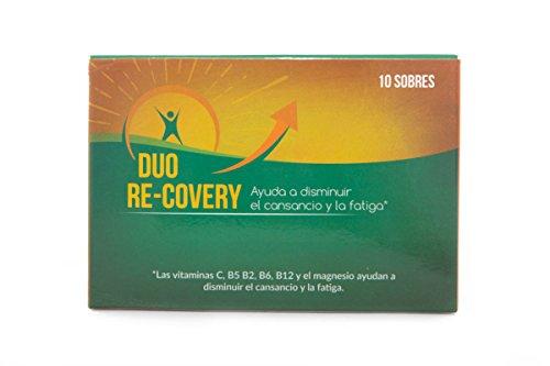 Duo Recovery (pack 10 sobres) -- RECUPERA LA ENERGÍA FÍSICA Y MENTAL Y AYUDA A PROTEGER EL HIGADO -- Con Vitaminas B12 B1 B2 B5 B6, Colina, Magnesio, Inositol, Vitamina C