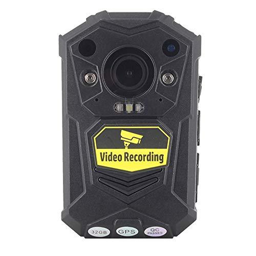 OneThingCam® Body Kamera Polizei haben Kamera Full HD 1296P 30 fps 32 G Speicher 140 Grad Weitwinkel Objektiv Special Night Vision & GPS hinzufügen Brustgeschirr und Schulter Geschirr