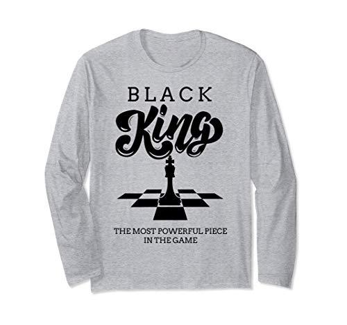 チェスクラブ黒王盤ヴィンテージゲーム愛好家のギフト 長袖Tシャツ