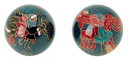 Qigong-Kugelpaar, cloi. Drache & Phönix ca. 40 mm