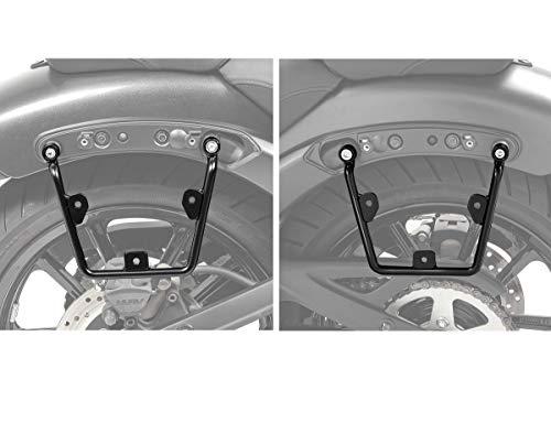 Set Soporte de alforjas Compatible para Kawasaki Vulcan S/Café 15-20 de Maletas (Pareja)