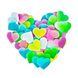 Glow in The Dark Heart-Heart Decor Sticker for Ceiling-Adhesive 40pcs 3D Glowing Heart for Wall Decoration for Kids Baby Bedroom Rooms(Mix)