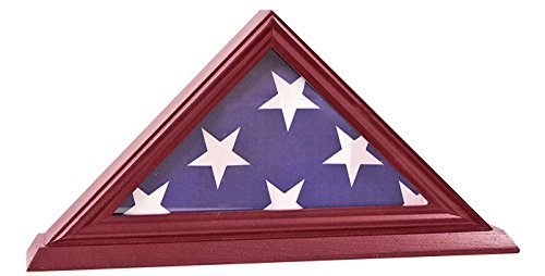 DECOMIL - 3' X 5' American Flag Display Case Stand Shadow Box (Not for Funeral Flag)
