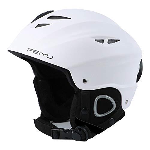 Skihelm, Snowboard Helm met Afneembare Oordopjes Controleerbare Ventilatie, Vrouwen Mannen Veiligheid Skiën Helm Professionele Skiën Sneeuwsporthelm