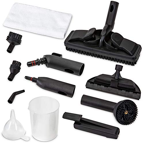 Ivation Replacement Parts for IVASTEAMR20 Canister Steam Cleaner - Parts Include Rotary Brush, Nozzle, Small Round Brush, Big Round Brush, Window Brush, Floor Brush, Floor Brush and More