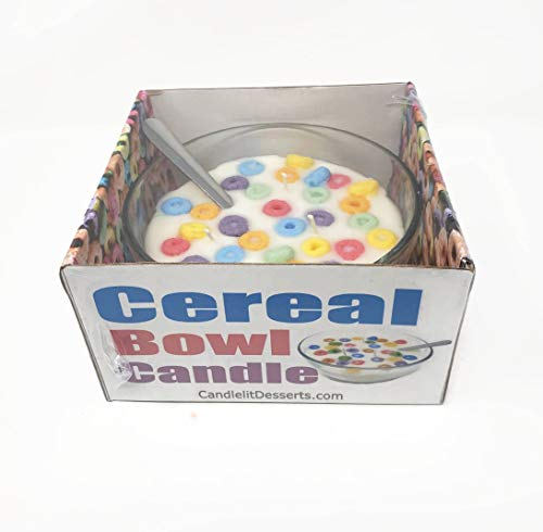 Candlelit Desserts Fruit Loops Style Scented Cereal Bowl Candle