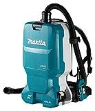 Makita DVC665ZU, Rucksackstaubsauger 2x18 V mit Bluetooth (ohne Akku, ohne Ladegerät), blau