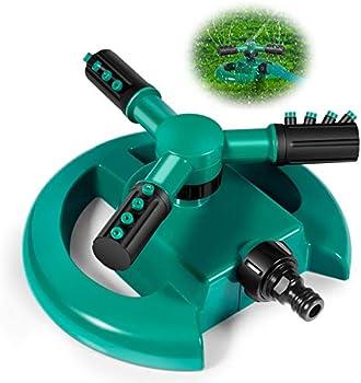 Qobnn 360 Degree Automatic Rotating Garden Sprinkler