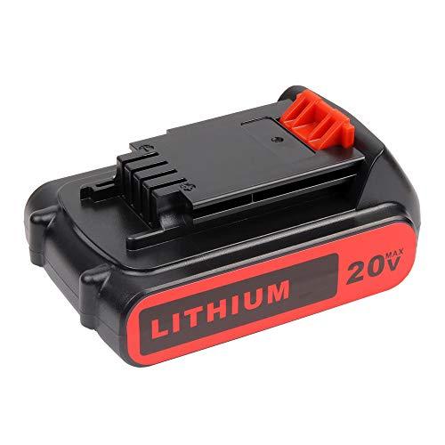 MANUFER 3.0Ah 18V 20V Li-Ion LBXR20 Replacement Battery for Black & Decker Battery BL2018 LBXR20 LBXR2020-OPE LB20 LBX20 BL2018-XJ GKC1825L GTC1850L20