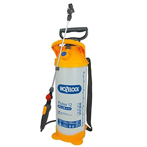 Hozelock Ltd Pulsar Plus Multisprayer (12 Capacity, 10 Litre MAX Fill) Pulverizador de presión, Translúcido